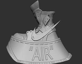 Nike Air Jordan 1 off white Two 3D print model