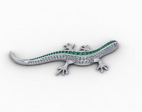 Lizard Full Diamond Pendants Buttoned 3D print model 4