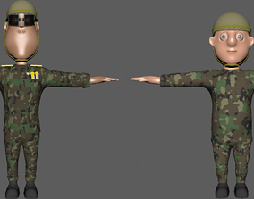 3D model Soldiers Rigging