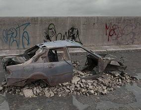 destroyed car 075 am165 3D
