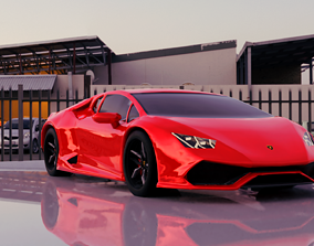3D printable model miniatures Lamborghini Huracan