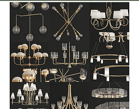 Chandeliers 3d models Collection 10 VR / AR ready
