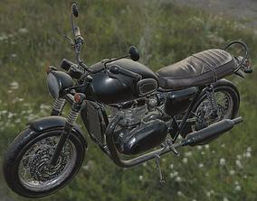 Triumph Bonneville T120 Motorcycle 3D model