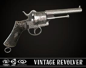 3D asset LEFAUCHEUX - Vintage Revolver Steel
