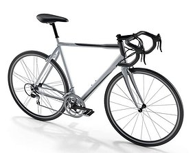 Men s Grey And Black Bicycle 3D