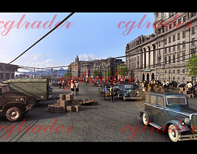 3D asset Architectural Street of the Republic of China