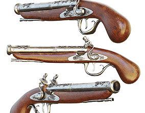 3D model Ancient gun