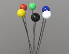 Pin or Pins 3D asset