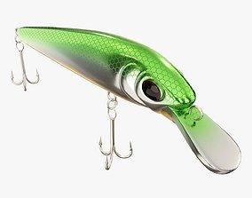 Minnow type fishing lure 01 3D