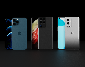 Collection Of Top and Latest Smartphones 3D