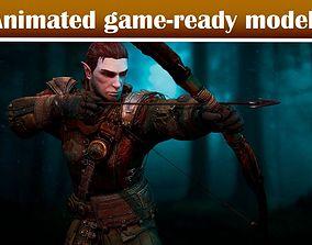 animated Archer Lambert Game Ready Model