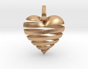 Ribbon Heart 3D printable model