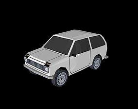 3D model Low poly jeep