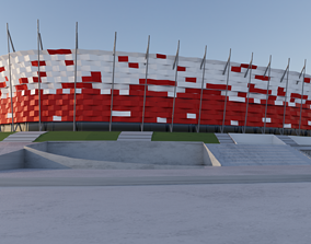 3D model warsaw national stadium