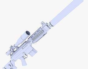 3D asset HK PSG1 Sniper Rifle