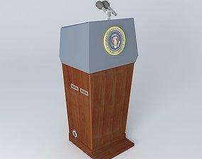 3D Presidential Blue Goose lectern