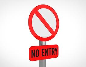 3D model No entry