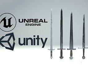 3D model game-ready Medieval slavic swords game asset
