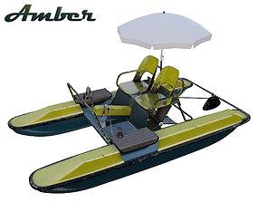 Catamaran Yantar Water bicycle model 3D