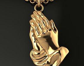 Praying Hands Pendant Size Small 3D print model