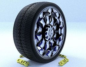 ORTAS CAR RIM 26 GAME READY RIM TIRE AND DISC 3D model
