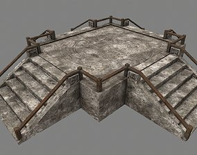 Stairs moosy 3D model realtime