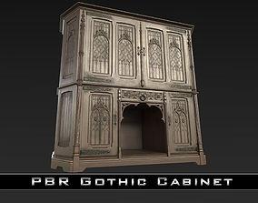 3D asset PBR Gothic Cabinet
