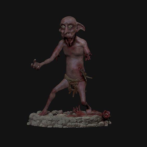 Dobby Zombie for 3dPrint