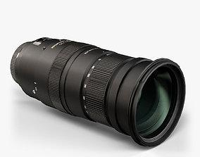 3D model Sigma 50-500mm 4-5 6-3 EX APO DC OS HSM Lens