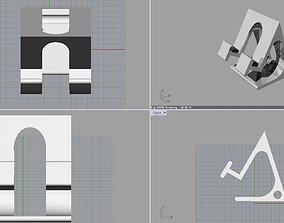 Phone holder 60degrees 3D printable model