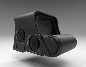 3D asset Holographic Sight - Scope - Weapon Attachment -