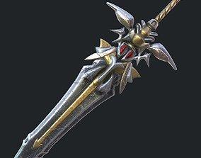 game-ready Fantasy sword 19 3d model
