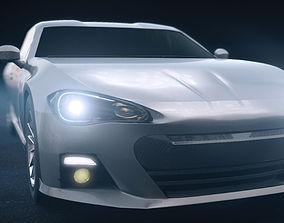 Toyota 86 sports car 3D model