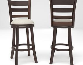 Leda swivel bar stool chair 3D model