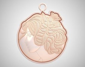 3D print model Girl Silhouette Necklace