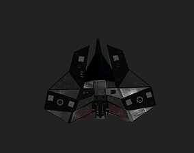 fighter Spaceship 3D asset realtime