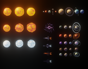 Low Poly Space Adventure Pack 3D asset