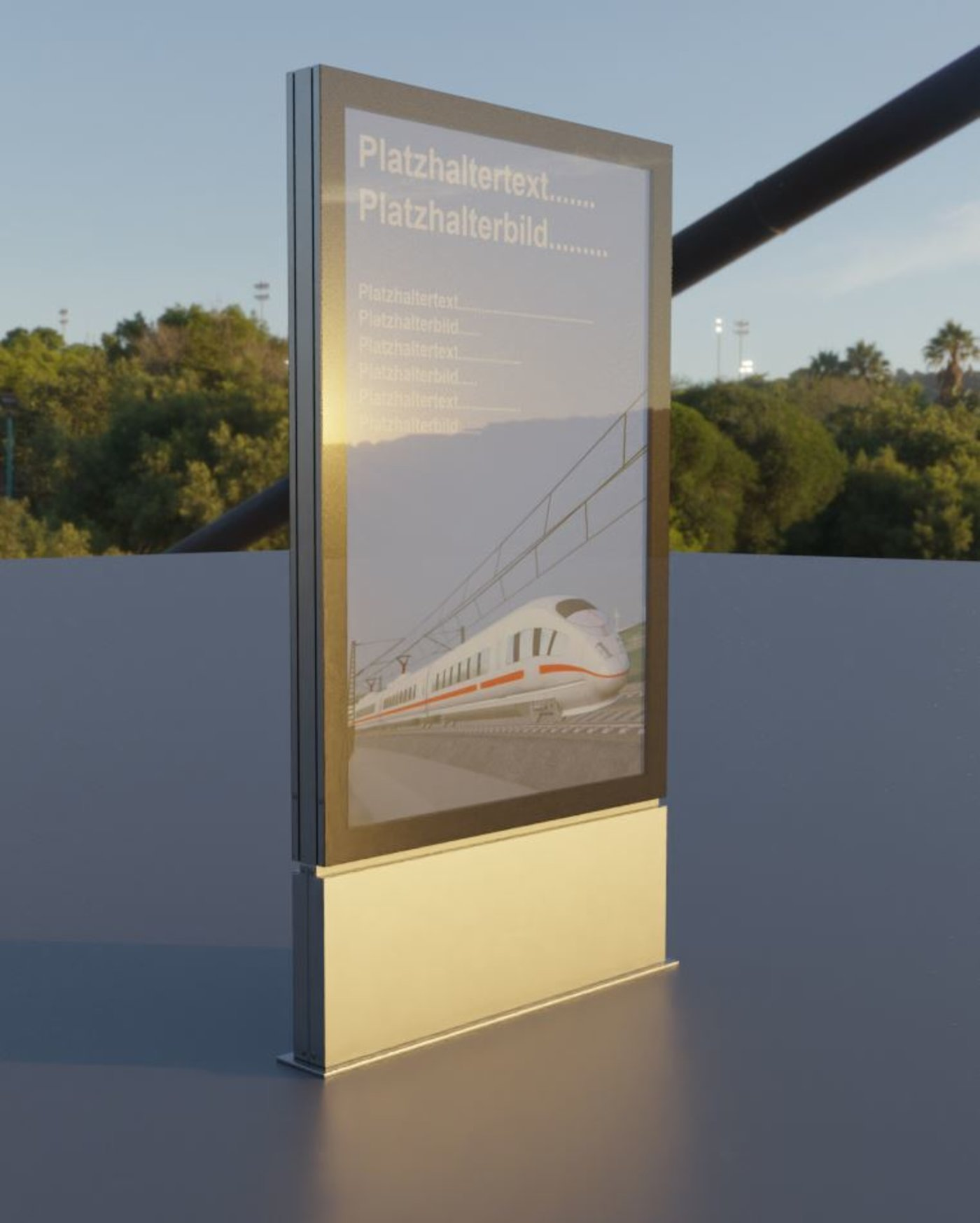 Outdoor Poster Showcase with LED Lighting  (Blender-2.90.1 Cycles)