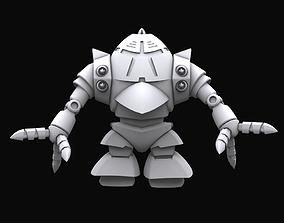 rigged Gundam mobile suit MSM10 model sf