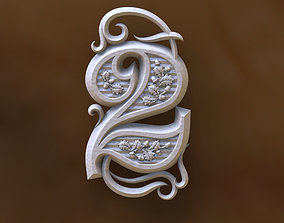number 2 3D printable model zero