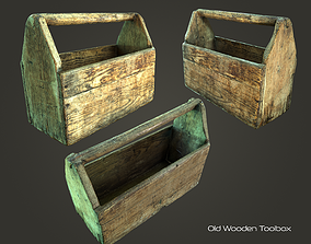Old Wooden Toolbox 3D asset