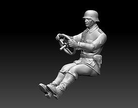 3D printable model ss german driver soldier