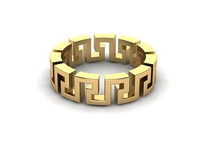 gold Versace Ring 3D model