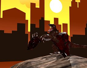 Dragon animals 3D model rigged realtime
