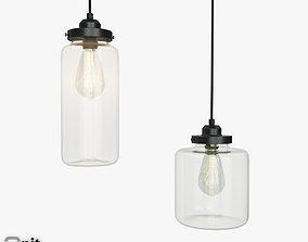 Glass Jar pendant light by West Elm 3D model