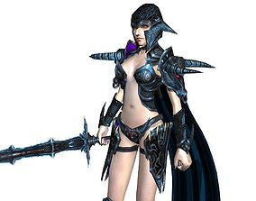 animated 3Dfoin - Female Warrior