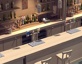 Hotel Bar 3D model realtime