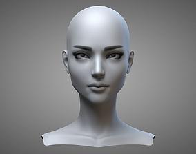 Female Head 2 3D