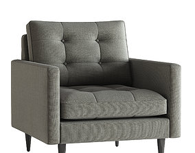 3D model Crate and Barrel Petrie Chair