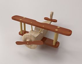 Wooden Airplane 3D